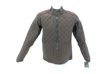 Sheila Moon Men's Quilted Cotton Cycling Jacket Brown