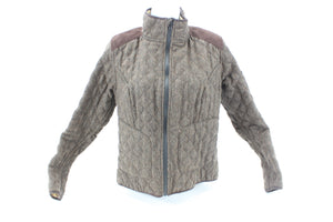 Sheila Moon Men's Quilted Wool Cycling Jacket Brown