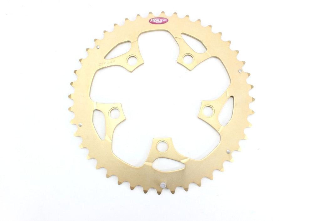 Sugino CSS III Hard Chainring 44 Tooth Gold Anodized 5 Bolt 94 BCD NOS!