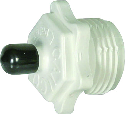 Camco 36104 -  Blow-out Plug with Schrader Valve - Plastic - Young Farts RV Parts