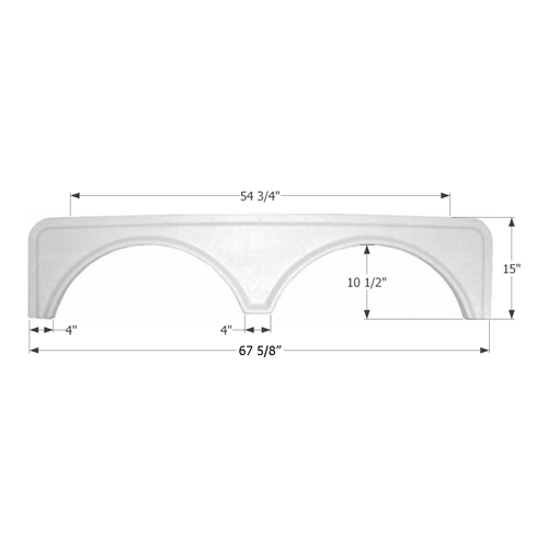 TANDEM FENDER SKIRT-PW #F - Young Farts RV Parts
