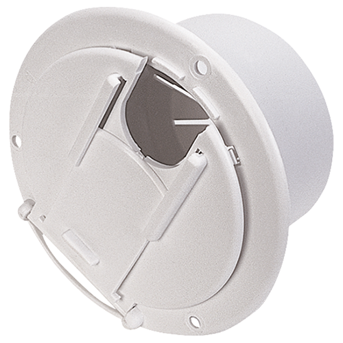 ROUND CABLE HATCH COL/WHT - Young Farts RV Parts