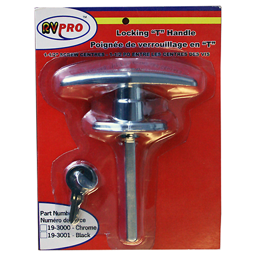 LOCKING T HANDLE-CHROME # - Young Farts RV Parts