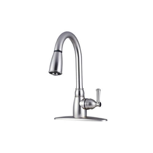 Dura Non-Metallic Pull-Down RV Kitchen Faucet - Brushed Satin Nickel - Young Farts RV Parts