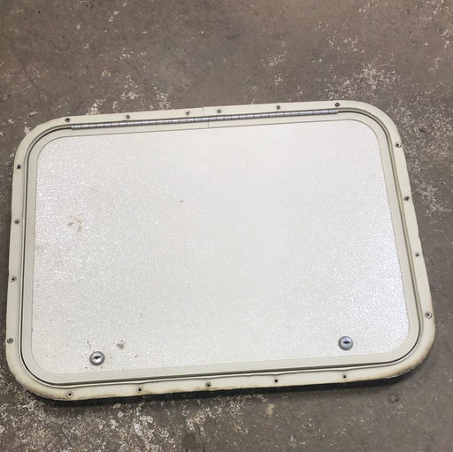 Used RV Radius Cargo / compartment Door 24 x 18 - Young Farts RV Parts
