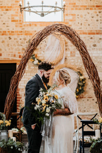 Rustic Barn Wedding Tweed Groom Suit