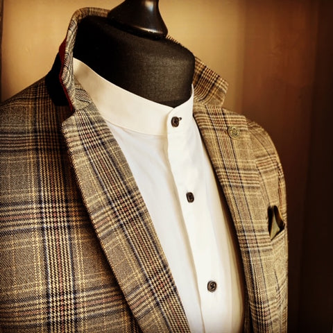 Marc Darcy Enzo Checked Suit Sauce Owl