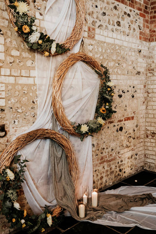 Wicker Floral Wedding Barn