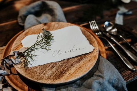 Place Setting Rustic Wedding