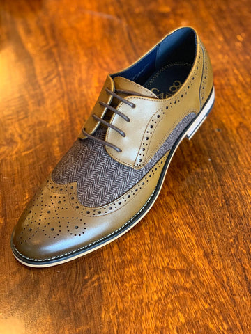 Horation Tan Tweed Brogue