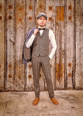 Cavani Albert Grey Tweed Suit