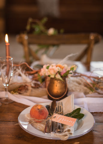 Rustic Barn Chic Table Place Settings