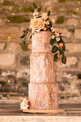 Natural Wood Rustic Barn Chic Wedding Cake