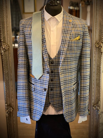 Marc Darcy Wastson Tweed Checked Suit Suave Owl
