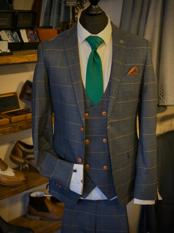 Marc Darcy Jenson Checked Suit Suave Owl