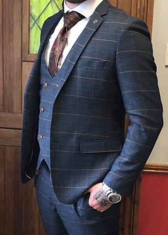 Marc Darcy Jenson Checked Suit