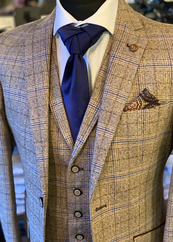 Robert Simon Marcello Beige Tweed Suit