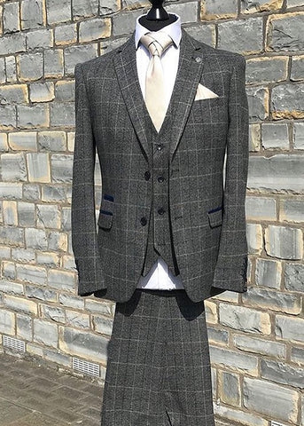 Marc Darcy Scott Grey Tweed Suit