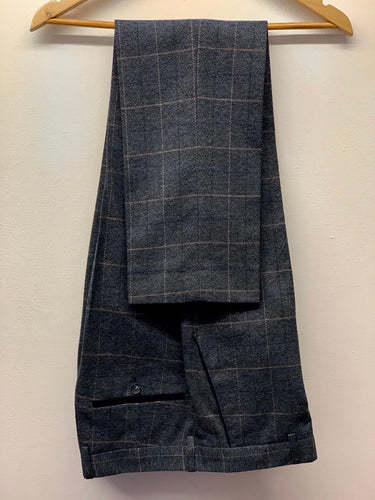 Marc Darcy Scott Blue Tweed Trousers