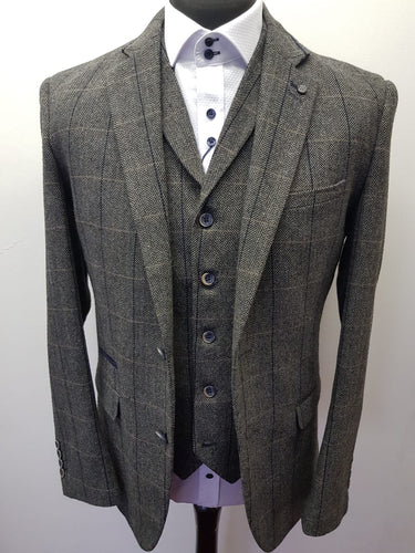 Cavani Albert Grey Tweed Jacket