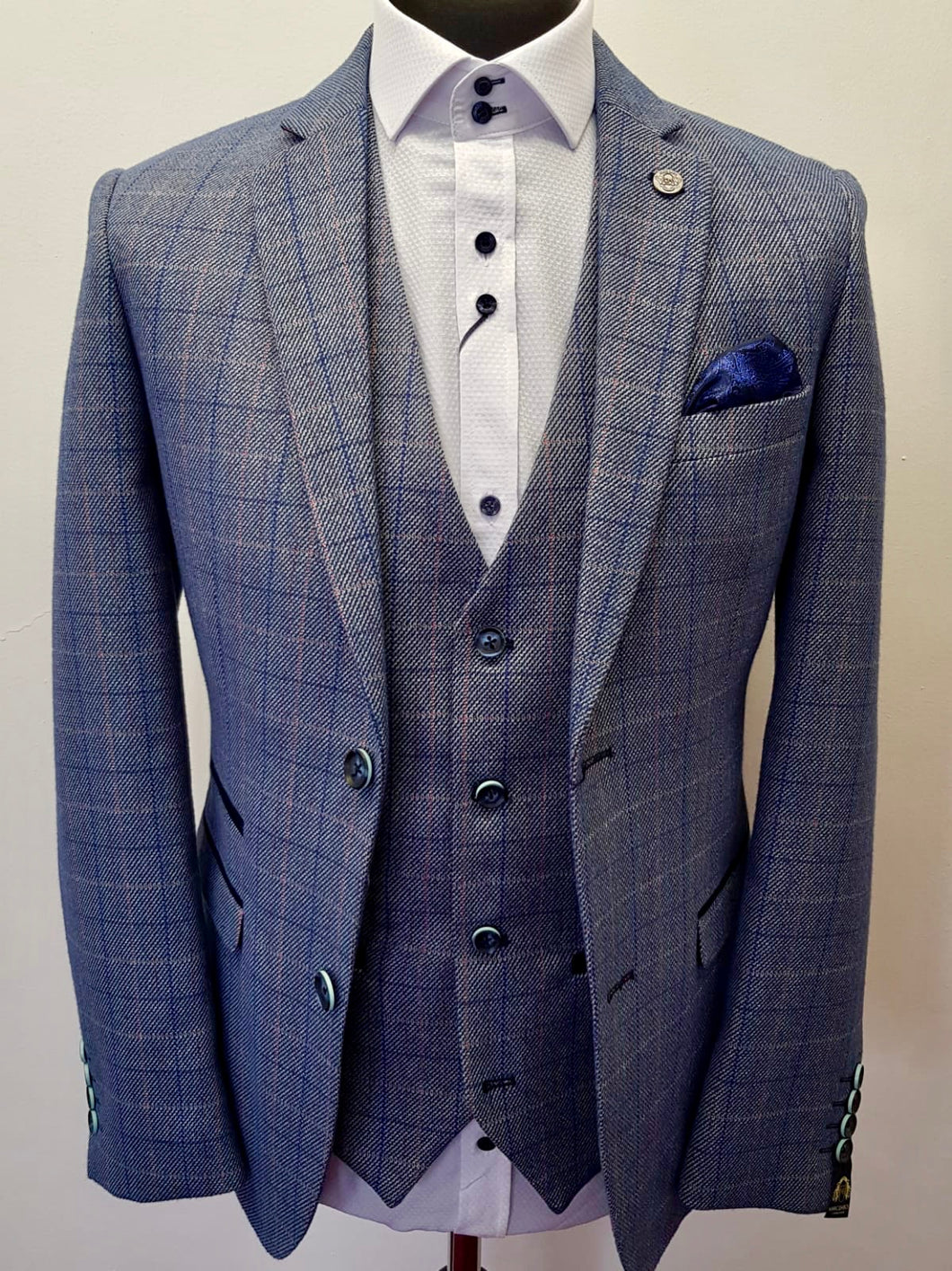 Marc Darcy Harry Sky Tweed Jacket