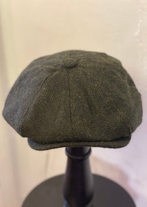 Baker Boy Cap Herringbone Green