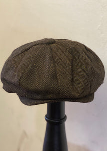 Baker Boy Cap Herringbone Brown