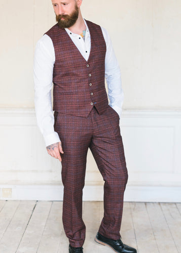 Cavani Carly Wine 2-Piece Suit
