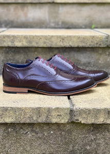 Classic Oxford Brogue Wine Colour