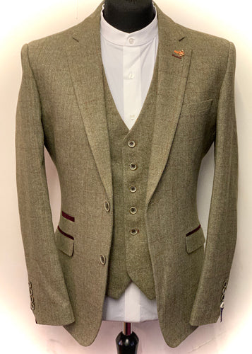 Cavani Gaston Sage Tweed Jacket