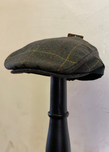 Flat Cap Tweed Check Olive