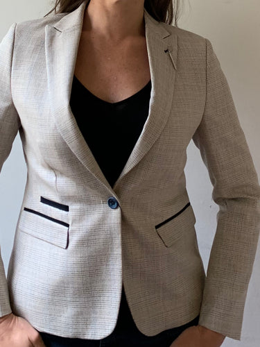 Ladies Caridi Check Blazer