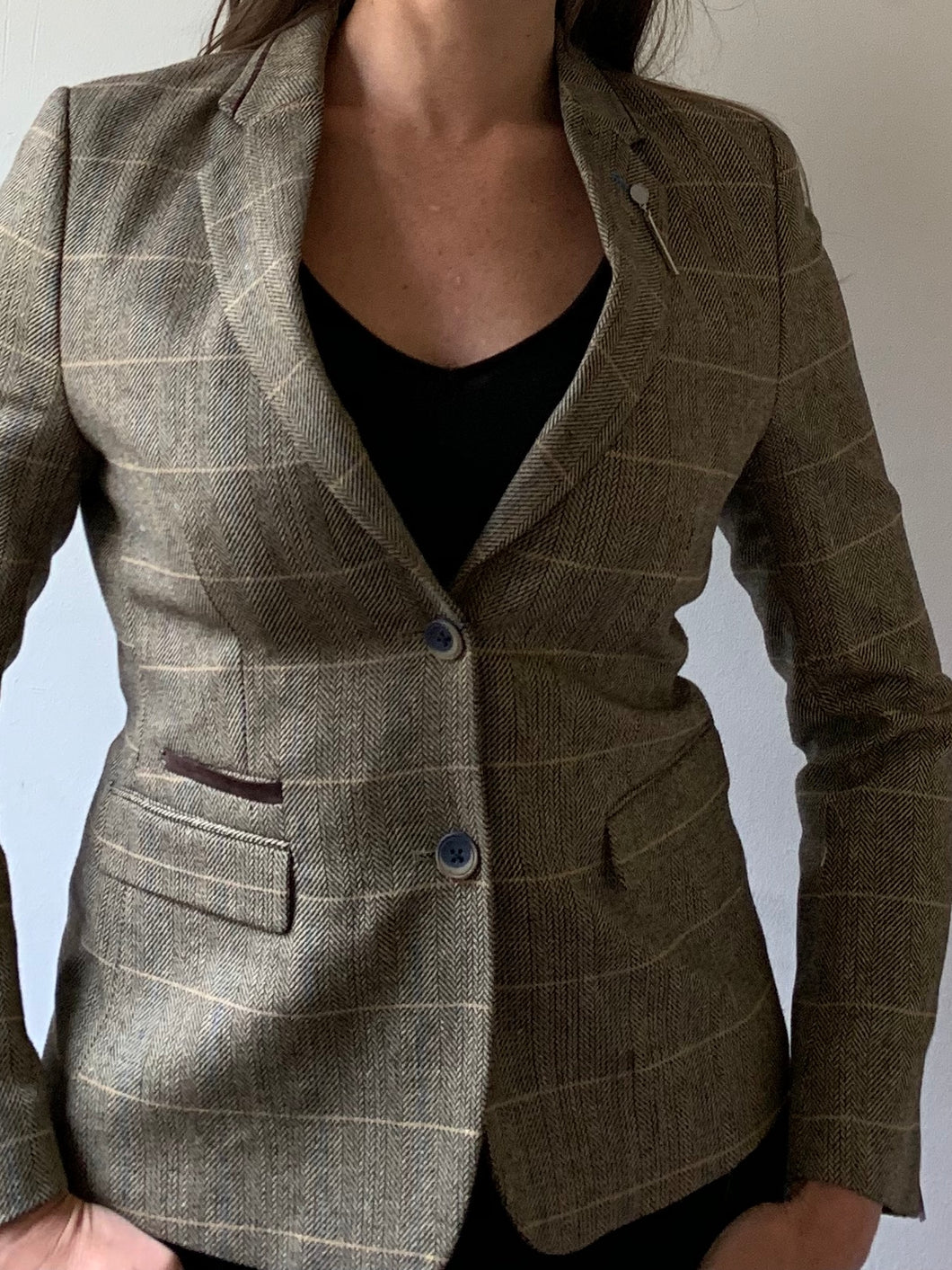 Ladies Albert Brown Tweed Blazer