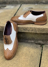 London Brogues Gatsby Tan/White