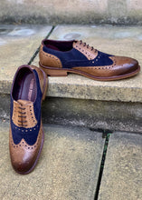 London Brogues Gatsby Tan/Navy Suede