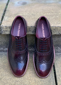 London Brogues Gatsby Bordo Polished