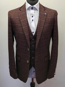 Cavani Carly Wine Tweed Jacket