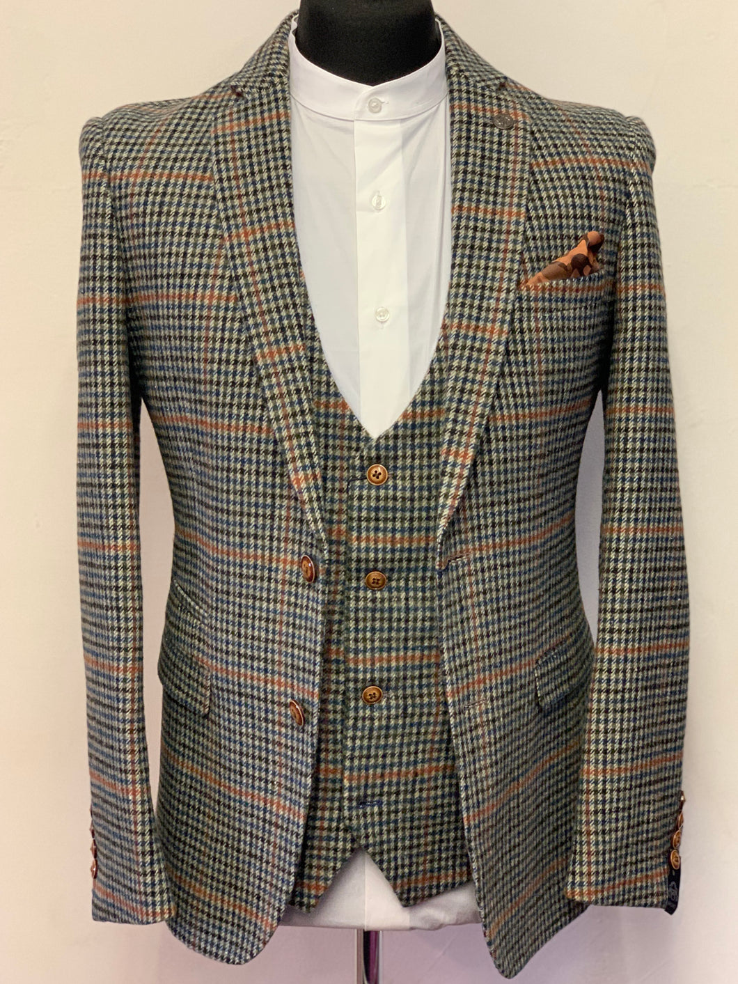 Marc Darcy Eddie Teal Tweed Jacket