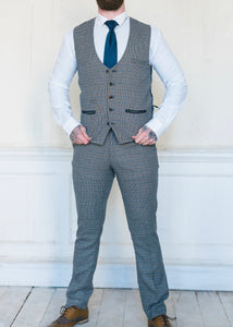 Marc Darcy Hardwick Checked 2-Piece Suit