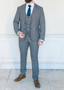 Marc Darcy Hardwick Checked 3-Piece Suit