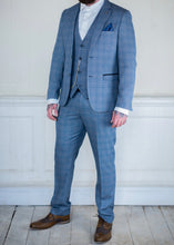 Marc Darcy Tweed Checked 3-Piece Suit