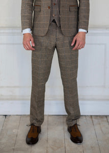 Marc Darcy Ted Tan Tweed Trousers