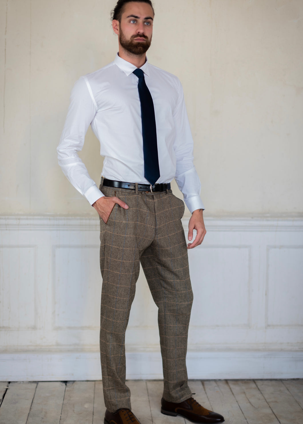 Marc Darcy Ted Tweed Trousers