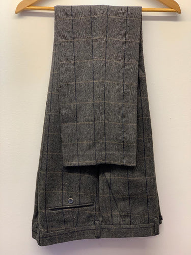 Cavani Albert Grey Tweed Trousers