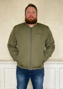Quilted Jacket Dusty Olive