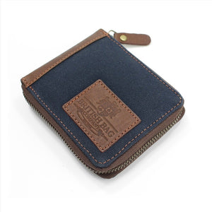 Canvas Zip Round Wallet