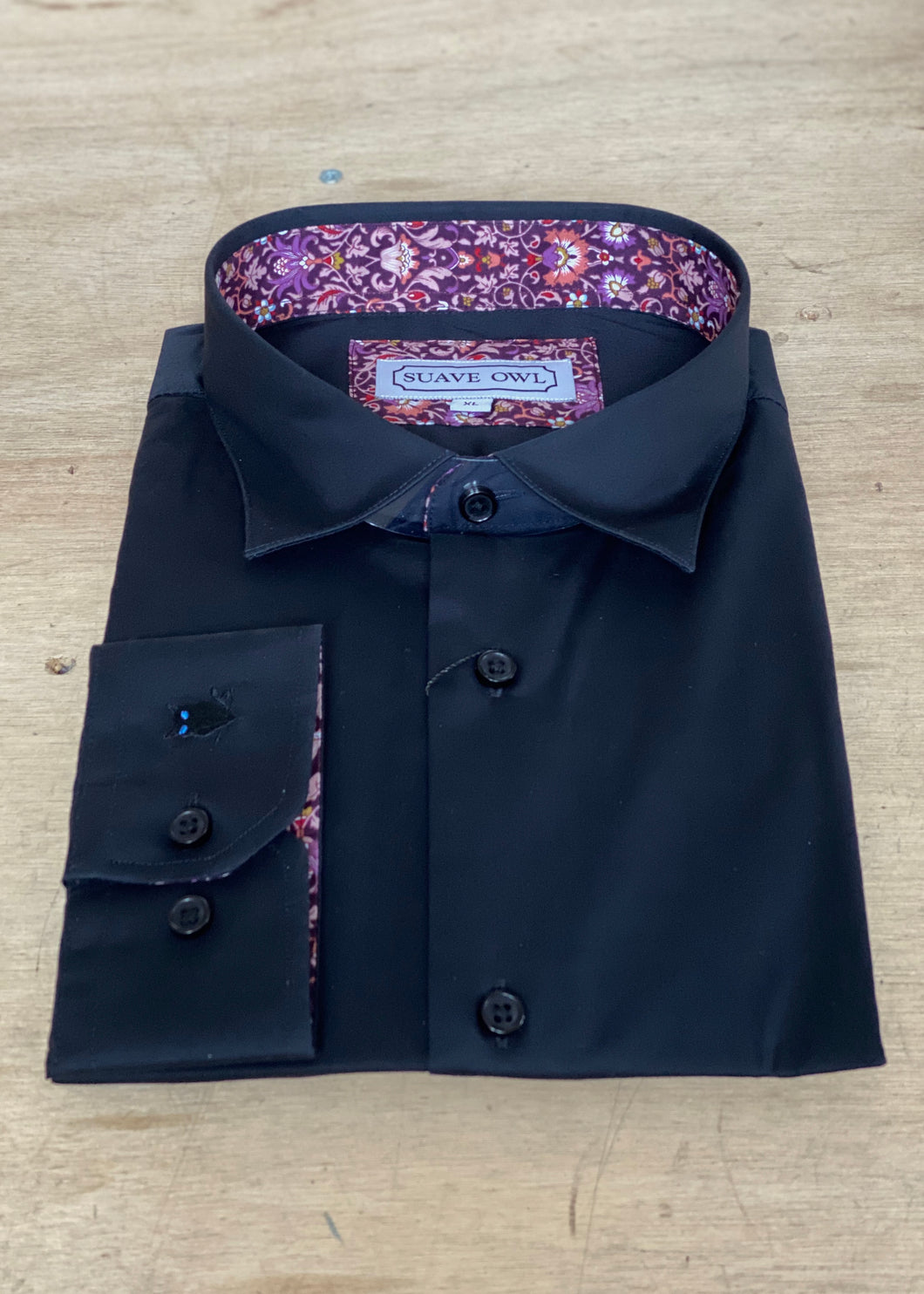 SUAVE OWL Black Shirt