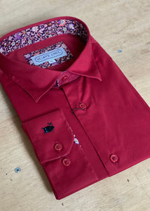 SUAVE OWL Red Berry Shirt