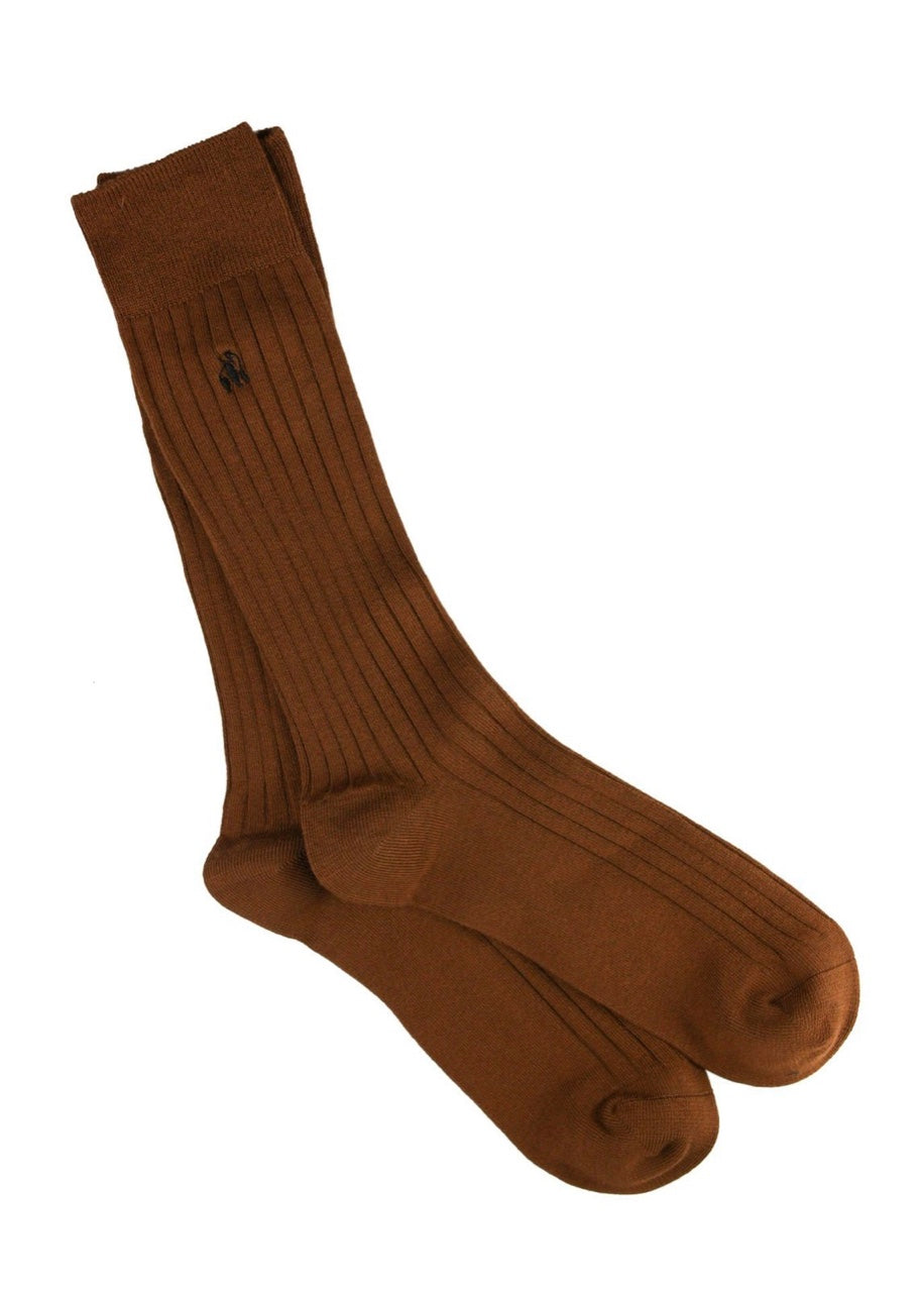 Swole Panda Chestnut Brown Bamboo Socks