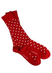 Swole Panda Red Polka Dot Bamboo Socks